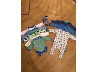 Boys baby clothes bundle sleepsuits/bodysuits Like New