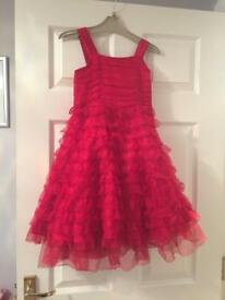 Girls Red Party Dress Age 7