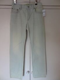 GAP BOYS WHITE WITH GREEN TINGE TROUSERS 13 XL