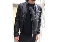 Dsquared down jacket with leather details - SIZE 52