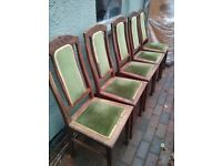 Free five dining room chairs