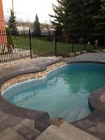 wrought iron  fence pool
