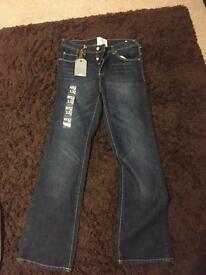 BNWT Jasper Conrad Blue Bootleg Jeans W32 L32