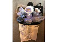 Breast pump, brand new lansinoh electric double breast pump,