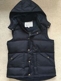 New JACK WILLS Mens/Boys Mansfield Gilet ~ Black ~ Size SMALL £98.50