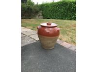 Old very large earthenware pottery storage jar.