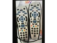 Sky hub and 2 remotes