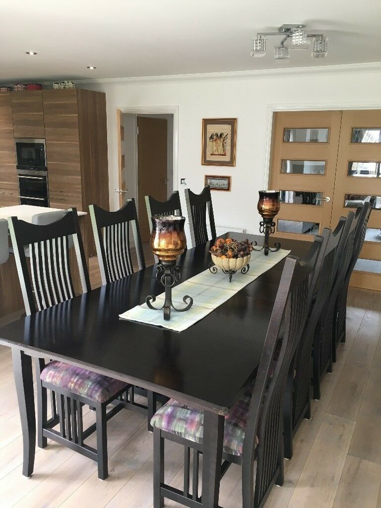 Fantastic Handmade Amish Solid Hardwood Dining Table And 8 Chairs Imported From Ohio Usa In Bucksburn Aberdeen Gumtree Download Free Architecture Designs Scobabritishbridgeorg