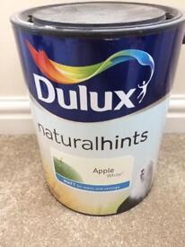 Dulux natural hints apple white 5l Matt paint