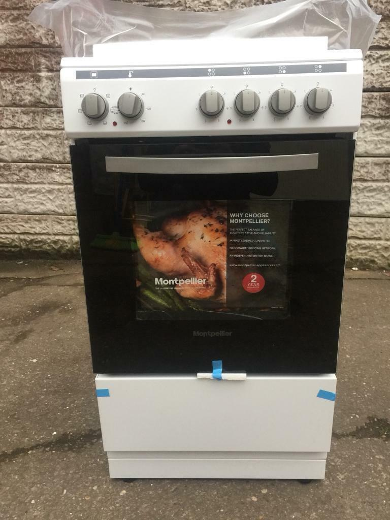 New Montpellier Mse49w 50cm Single Cavity Electric Cooker In White Collection Ovens Lamona Conventional Oven 100