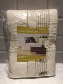 Country Club Contemporary Throw 100% Cotton NEW