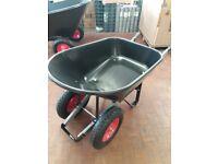 Plastic 100L twin wheeled barrow