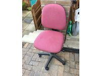 Pink Chair with Swivel And Height Adjustment