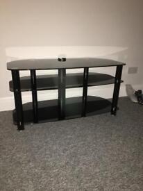 Black glass TV cabinet/unit