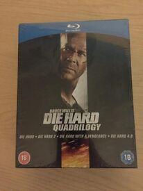 Die Hard Quadrilogy Boxset + DH5 (Blu-Ray) Brand New & Sealed