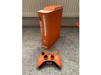 XBOX 360 Elite Custom Orange and white