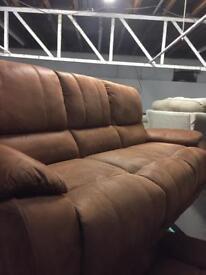 Ex Display Tan colour fabric sofa