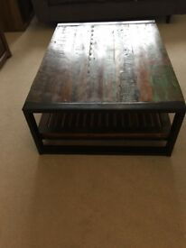 Coffee table, reclaimed Indian wood, excellent condition