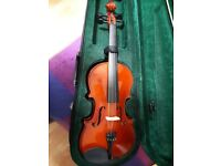 Violin & case with teaching book