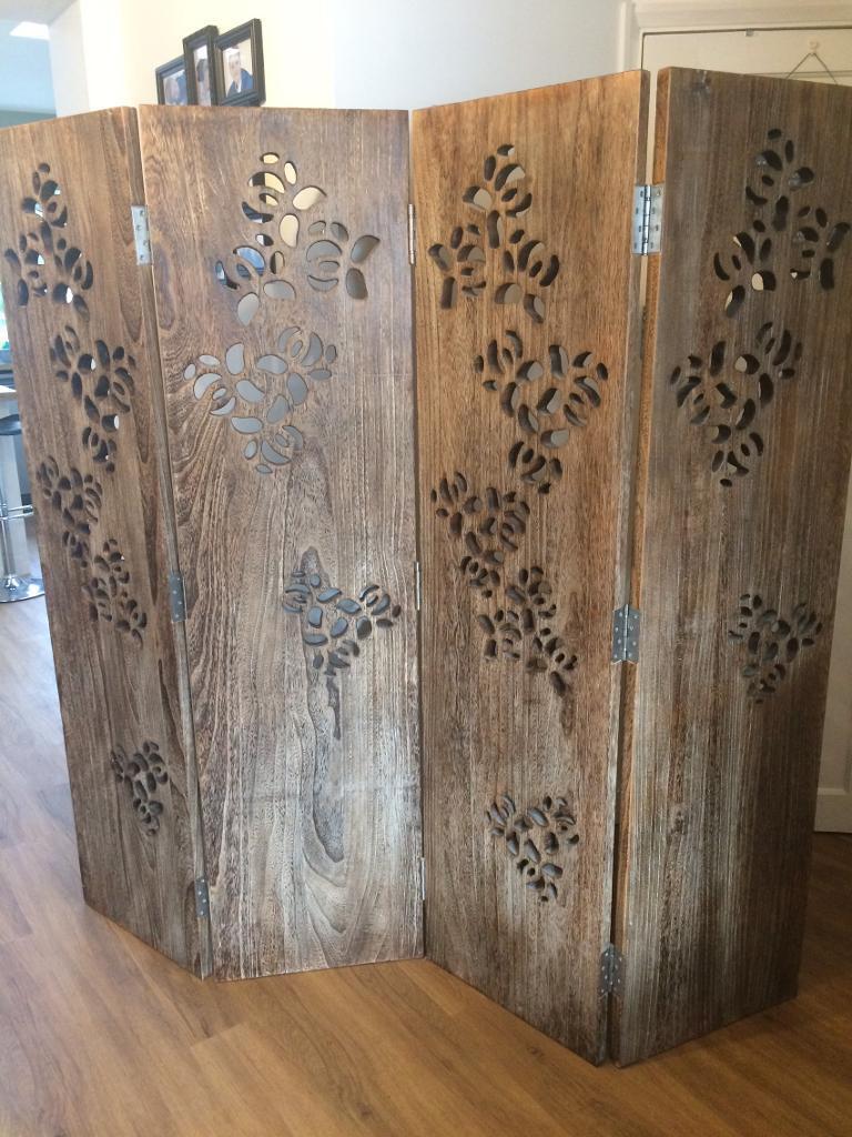 Habitat Palonia 4 Panel Wooden Room DividerScreen in  : 86 from www.gumtree.com size 768 x 1024 jpeg 122kB