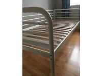 Single bed. IKEA TROMSO cream metal frame with slats