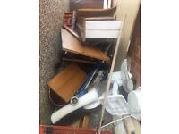 FREE WOOD PLASTIC AND OLD ELECTRICALS