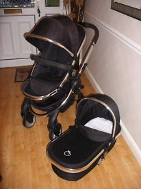 ICandy Peach Infant travel solution carrycot and pushchair with waterproof