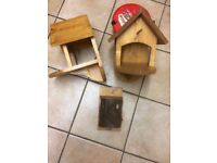 Bird tables and nest box
