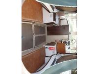 Large cabin cruiser 23ft boat & braked trailer inboard diesel engine