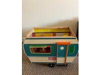 1970s Sindy caravan and buggy