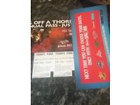 Thorpe Park tickets 27.7.18