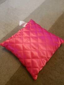 Small square pink cushion