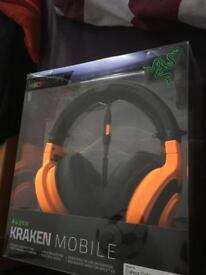 Razer Kraken headphones (orange)