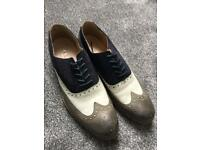 Men's UK size 10 leather and suede brogues
