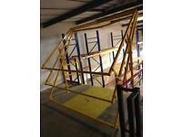Mezzanine floor safety gate