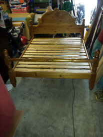 solid pine king size bed and faux leather king size bed.newry..if advert still here ,still for sale.
