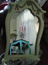 Large roccocco louis shabbychic mirror ornate mirror
