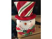 Christmas Cookies Snowman Jar Boxed American