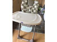 Chicco Polly High Chair excellent condition