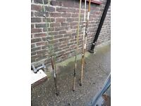 old sea fishing rods