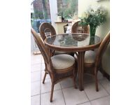 Cane dining/kitchen furniture