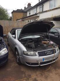 Audi A4 1.8t convertible breaking