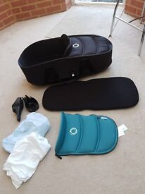 Bugaboo bee 3 carry cot with adapters, 2 fitted sheets and extra apron