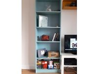 For sale two duck egg blue book cases