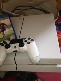 PS4 with 3 games and controller
