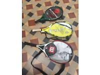 3 sets of junior tennis rackets-Only small one left