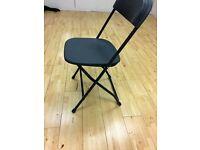 10Folding Black Chairs