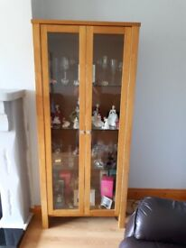 Large glass cabinet and smaller one