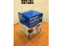 Burger making kit for for meat and veggie burgers - bbq, grill. never used