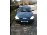 Blue Vauxhall Corsa..Great wee 1st car!!
